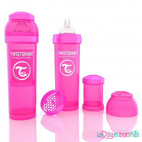 BIBERON TWISTSHAKE ANTICÓLICO -  ROSA 330 ML