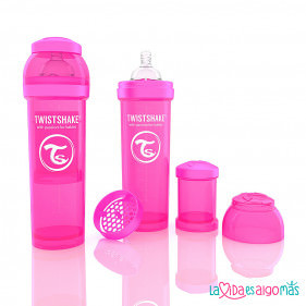 BIBERON TWISTSHAKE ANTICÓLICO -  ROSA 260 ML