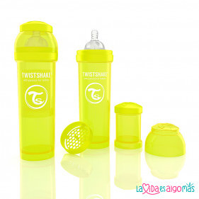 BIBERON TWISTSHAKE ANTICÓLICO -  AMARILLO 330 ML