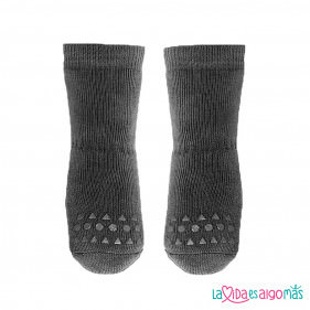 CALCETINES ANTIDESLIZANTES GO BABY GO - GRIS OSCURO