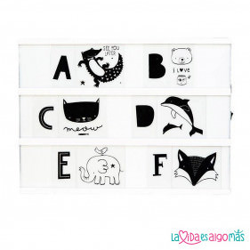 SET DE LETRAS ABC NEGRO PARA LIGHTBOX