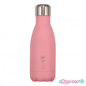 BOTELLA TÉRMICA ACERO INOXIDABLE CHILLY'S 260ML - ROSA PASTEL