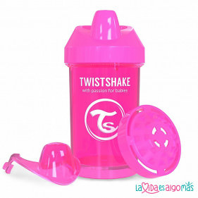 VASO ANTIDERRAME TWISTSHAKE 300ML 8+M - ROSA
