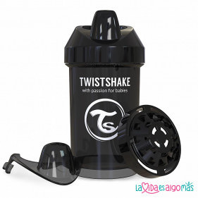 VASO ANTIDERRAME TWISTSHAKE 300ML 8+M - NEGRO