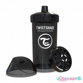 VASO ANTIDERRAME TWISTSHAKE 360ML 12+M - NEGRO