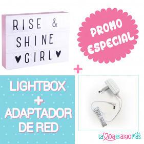 PACK LIGHTBOX A4 - ROSA + ADAPTADOR DE RED BLANCO
