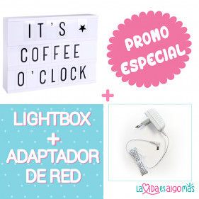 PACK LIGHTBOX A4 - BLANCO + ADAPTADOR DE RED BLANCO
