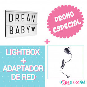 PACK LIGHTBOX A5 - NEGRO + ADAPTADOR DE RED NEGRO