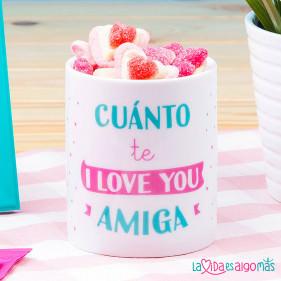 "TAZA ""CUÁNTO TE I LOVE YOU AMIGA"""