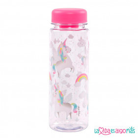BOTELLA REUTILIZABLE 450ML - UNICORNIO