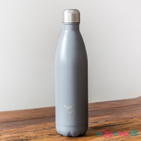 BOTELLA TÉRMICA ACERO INOXIDABLE CHILLY'S 750ML - GRIS MATE
