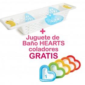 PROMOCIÓN BANDEJA AJUSTABLE BAÑERA + JUGUETE BAÑO HEARTS GRATIS