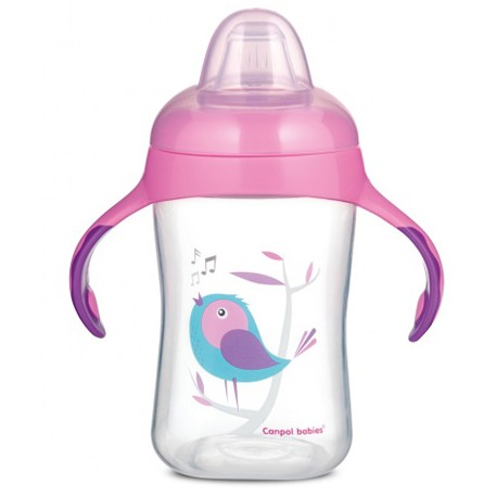 TAZA APRENDIZAJE CANPOL BABIES 300ML BIRDS - ROSA