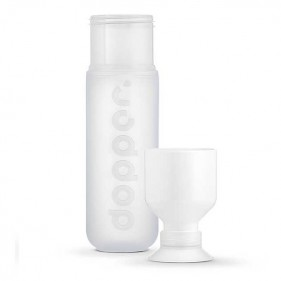 BOTELLA CON VASO DOPPER ORIGINAL 450ML - PURE WHITE