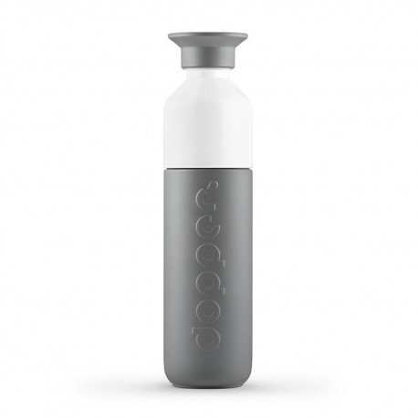BOTELLA TÉRMICA CON VASO DOPPER 580ML - GLACIER GREY