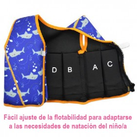 CHALECO FLOTADOR APRENDIZAJE SPLASH ABOUT - SHARK
