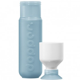 BOTELLA CON VASO DOPPER ORIGINAL 450ML - COOL BLUE