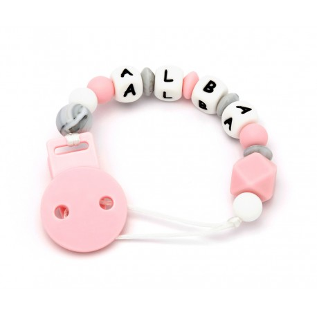 SUJETACHUPETES SILICONA PERSONALIZADO NEW SWEET PINK