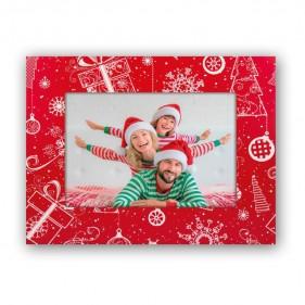 MARCO FOTOS NAVIDAD PERSONALIZADO CON FOTO CHRISTMAS - ROJO