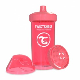 VASO ANTIDERRAME TWISTSHAKE 360ML 12+M - CORAL