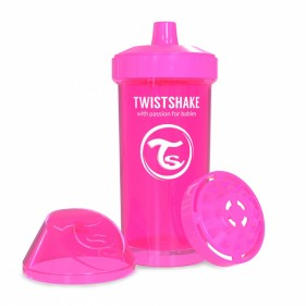 VASO ANTIDERRAME TWISTSHAKE 360ML 12+M - ROSA