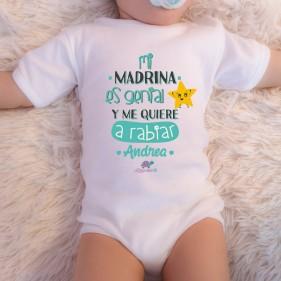 """BODY PERSONALIZADO """"MI MADRINA ES GENIAL"""" M/C - MINT"""