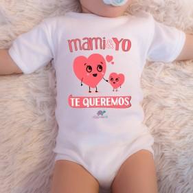 """BODY ABIERTO HOMBRO """"MAMI Y YO TE QUEREMOS"""" M/C - UNISEX"""