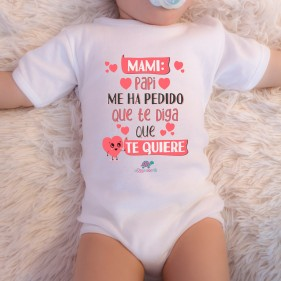 "BODY ABIERTO HOMBRO ""MAMI, PAPI ME HA PEDIDO"" M/C - UNISEX"