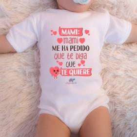 "BODY ABIERTO HOMBRO ""MAMI, MAMI ME HA PEDIDO"" M/C - UNISEX"