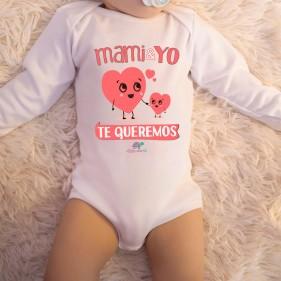 """BODY C/ AMERICANO """"MAMI Y YO TE QUEREMOS"""" M/L - UNISEX"""