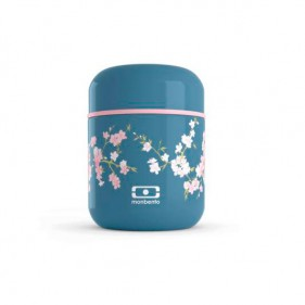 TERMO DE SÓLIDOS ACERO INOXIDABLE MONBENTO 280ML - DENIM FLORES