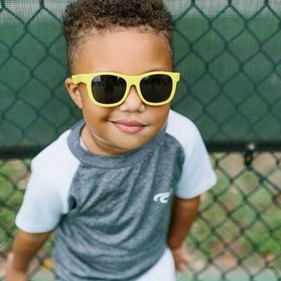 GAFAS DE SOL FLEXIBLES BABIATORS - HELLO YELLOW (3 - 5 AÑOS)
