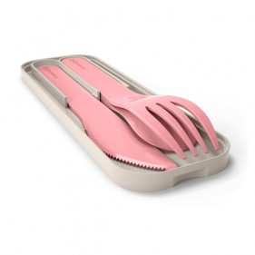 CUBIERTOS BIODEGRADABLES MONBENTO - BLUSH