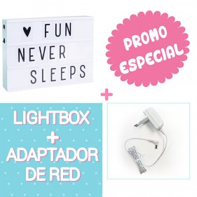 PACK LIGHTBOX A4 - MINT + ADAPTADOR DE RED BLANCO