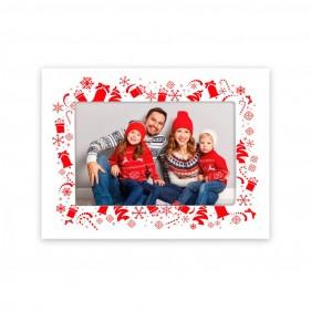 MARCO FOTOS NAVIDAD PERSONALIZADO CON FOTO CHRISTMAS - BLANCO