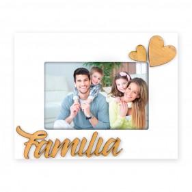 """MARCO FOTOS PERSONALIZADO CON FOTO """"FAMILIA"""" - CORAZONES"""