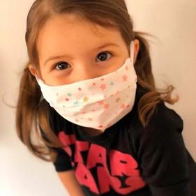 """MASCARILLA NAVIDAD HIGIÉNICA INFANTIL """"EARS"""" DE TELA IMPERMEABLE REUTILIZABLE CON ESTAMPADO - NIÑOS"""