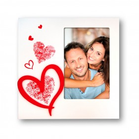 "MARCO FOTOS PERSONALIZADO CON FOTO ""I LOVE YOU"" - VERTICAL"