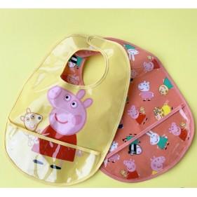 SET DE 2 BABEROS IMPERMEABLES PETIT JOUR - PEPPA PIG