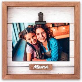 """MARCO FOTOS PERSONALIZADO CON FOTO """"MAMÁ"""" - PINZA"""