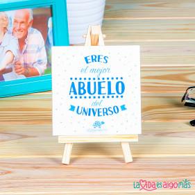 """AZULEJO """"ERES EL MEJOR ABUELO DEL UNIVERSO"""""""