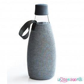 FUNDA BOTELLA RETAP 800ML - GRIS
