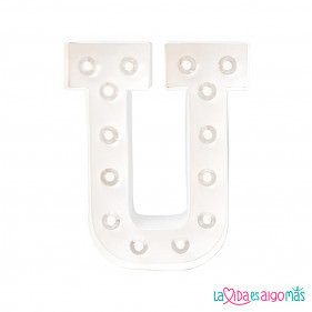 LETRA LUMINOSA MARQUEE LOVE - U