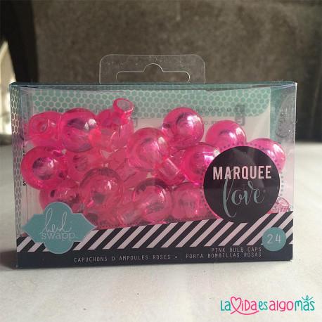 CAPUCHONES BOMBILLAS MARQUEE LOVE - ROSA