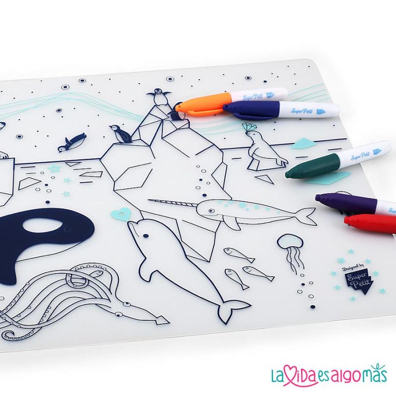 Salvamantel Para Colorear Super Petit - Iceberg