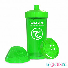 VASO ANTIDERRAME TWISTSHAKE 360ML 12+M - VERDE