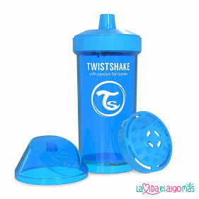 VASO ANTIDERRAME TWISTSHAKE 360ML 12+M - AZUL