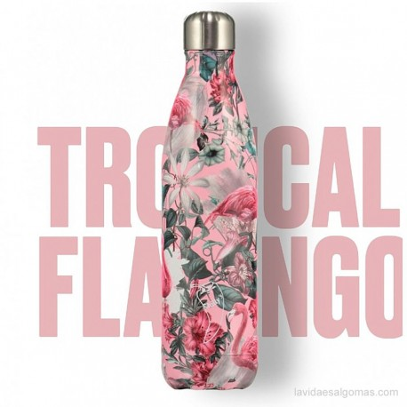 BOTELLA TÉRMICA ACERO INOXIDABLE CHILLY'S 500ML - TROPICAL FLAMINGO
