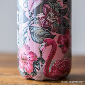 BOTELLA TÉRMICA ACERO INOXIDABLE CHILLY'S 260ML - TROPICAL FLAMINGO