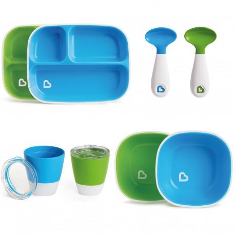 Vajilla Splash Munchkin Azul/Verde